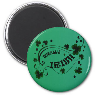 St. Patricks Day Shamrocks Totally Irish Magnet