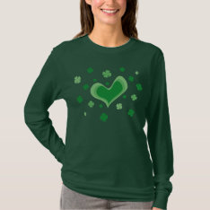 St Patricks Day Shirt | Long Sleeve With Shamrocks at Zazzle