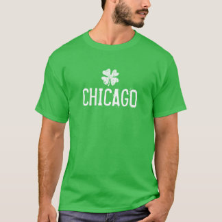 St Patricks Day shirt with Chicago shamrock logo