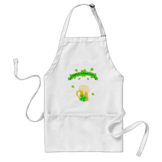 St Patrick's Day Sign Adult Apron