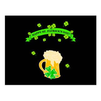St Patrick's Day Sign Postcard