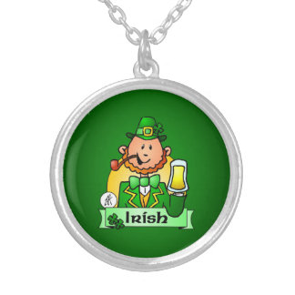 St. Patrick's Day Silver Plated Necklace