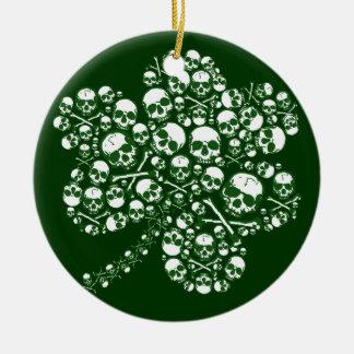 St Patricks Day Skulls Christmas Ornament
