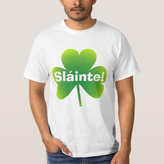 St Patrick's Day Sláinte Shamrock T-Shirt