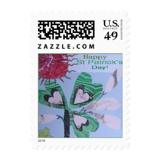 St. Patrick's Day Small Collage Postage