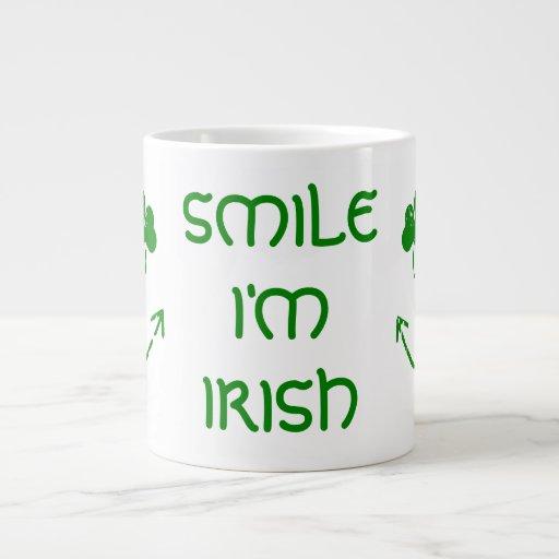 St Patrick's Day Smile I'm Irish 20 Oz Large Ceramic Coffee Mug