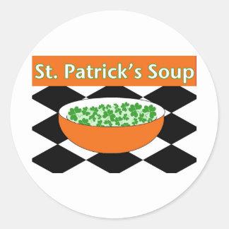 St. Patrick's Day Soup Classic Round Sticker