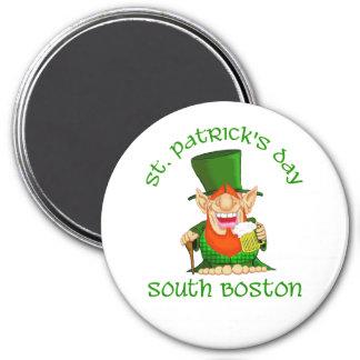 St Patricks Day ~South Boston 3 Inch Round Magnet