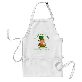 St Patricks Day ~South Boston Adult Apron