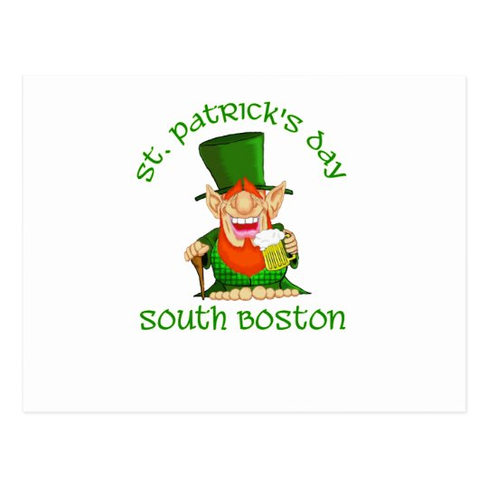 St Patricks Day ~South Boston Postcard