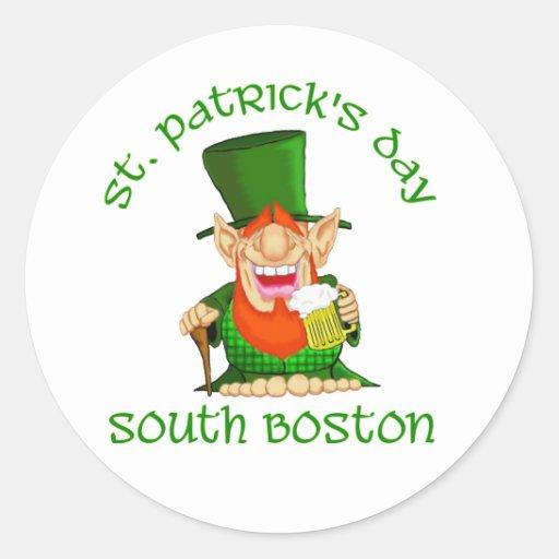 St Patricks Day ~South Boston Classic Round Sticker