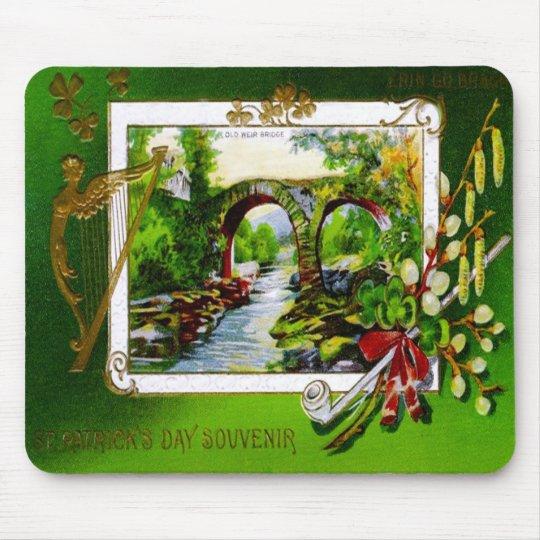 St. Patrick's Day Souvenir Card Mousepad