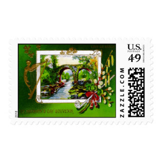 St. Patrick's Day Souvenir Card Postage Stamps