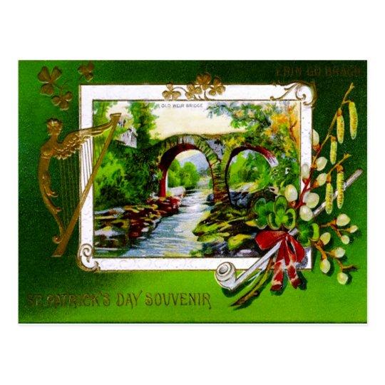 St. Patrick's Day Souvenir Postcard