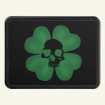 St Patricks Day spooky shamrock Tow Hitch Cover