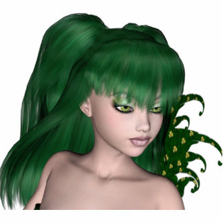 St. Patrick's Day Sprite 1 - Green Fairy Cutout