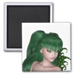 St. Patrick's Day Sprite 1 - Green Fairy Refrigerator Magnet