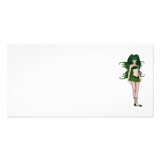 St. Patrick's Day Sprite 5 - Green Fairy Photo Greeting Card