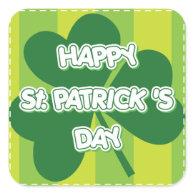 St. Patrick's Day square Sticker