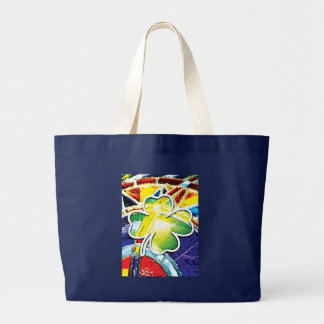 st. patrick's day, stained glass tote bag