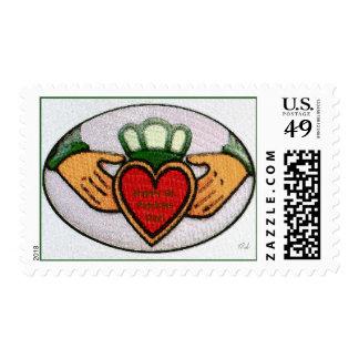 St. Patricks Day Stamp - Claddagh