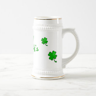 St Patrick's Day Stein 18 Oz Beer Stein