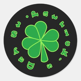 St Patrick's Day Classic Round Sticker