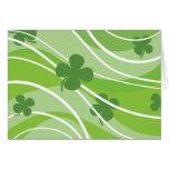 St. Patrick's Day Swirls Greeting Cards