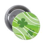 St. Patrick's Day Swirls Pinback Buttons