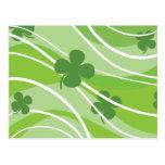 St. Patrick's Day Swirls Postcards