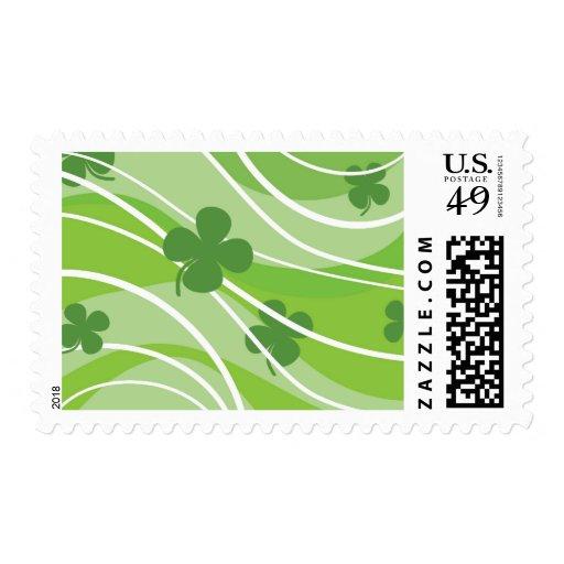St. Patrick's Day Swirls Stamps