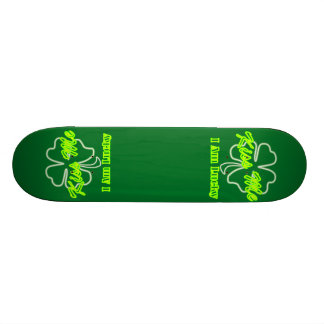 St Patrick's Day Team Irish Kiss me I am lucky Skateboard