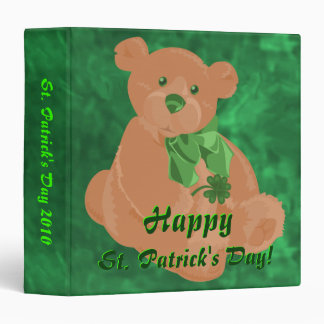 St. Patrick's Day Teddy Bear Binder