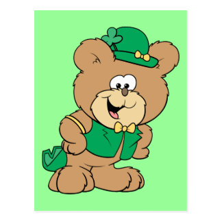St. Patrick's Day Teddy Bear Postcard