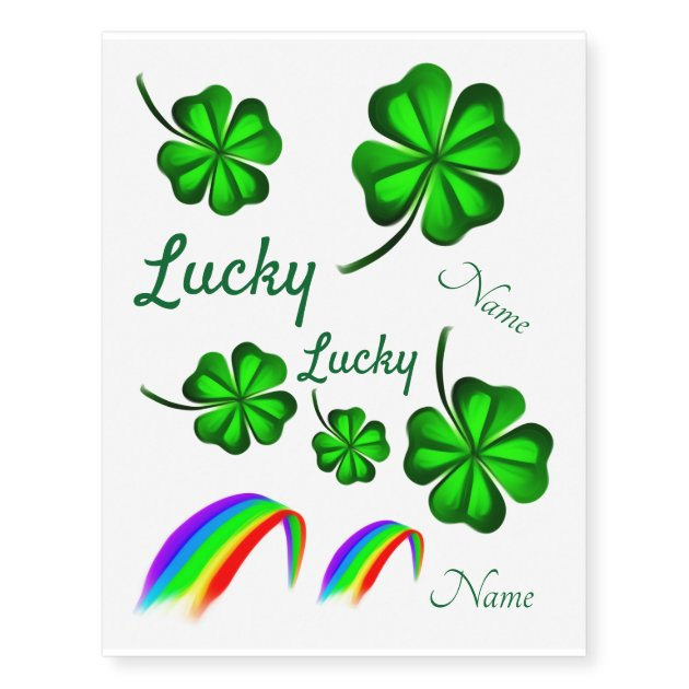 Shamrock Tattoos,12 Sheets Four Leaf Clover Temporary Tattoos Stickers for St Patricks Day and Clover Themed Party 12 Sheets Four Leaf Clover Temporary Tattoos Stickers for St Green Green Dream Loom Patrick/'s Day and Clover Themed Party