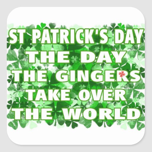 St Patricks Day-The Day The Gingers Take Over The Sticker