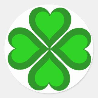 St Patricks Day Theme Round Sticker