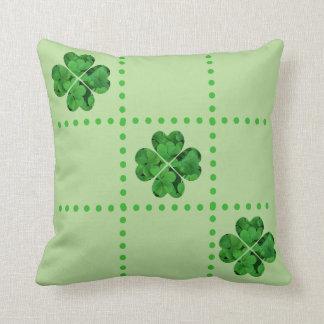 St. Patrick's Day Tic-Tac-Toe Shamrocks Pillow