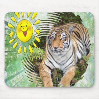St. Patrick's Day-Tiger Mouse Pad