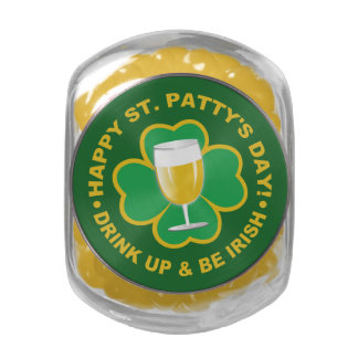 St. Patrick's Day tins & jars Glass Candy Jars