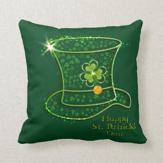 St. Patrick's Day Top Hat & Coins Pillow