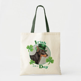 St. Patrick's Day Toy Manchester Terrier Tote Bag