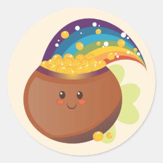 St. Patrick's Day Treasure Classic Round Sticker