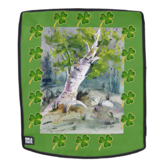 St. Patrick's Day Tree on backpack/face Backpack