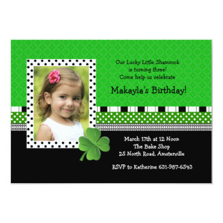 St. Patrick's Day Trendy Photo Invitation