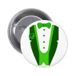 St. Patrick's Day Tuxedo Button