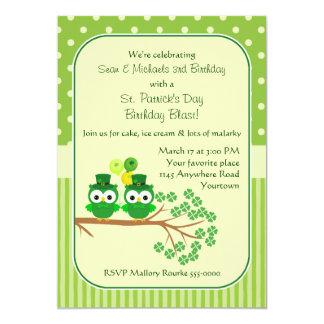 St. Patrick's Day Twin Boys Birthday Card