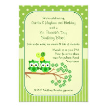 St. Patrick's Day Twin Girl's Birthday Card