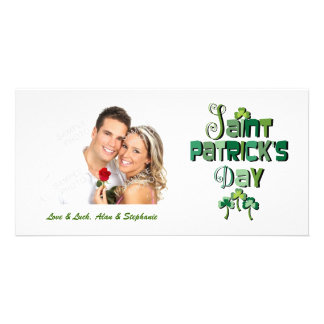 St Patricks Day Typography Holiday Photo Cards