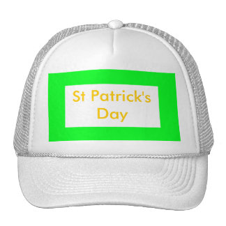 St Patrick's Day UCreate Templates Mesh Hats